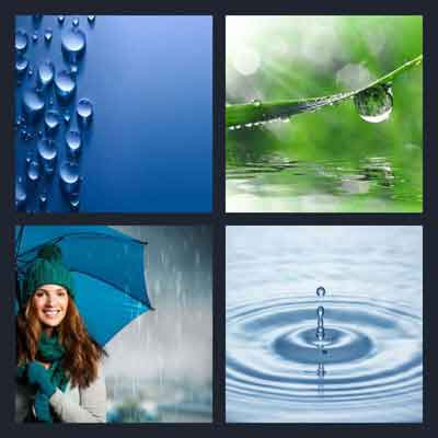 4-pics-1-word-water-drops-blue-wall-leaf-girl-with-umbrella-hat-gloves-2