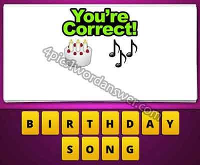 Emoji Cake And Music Notes 2823996