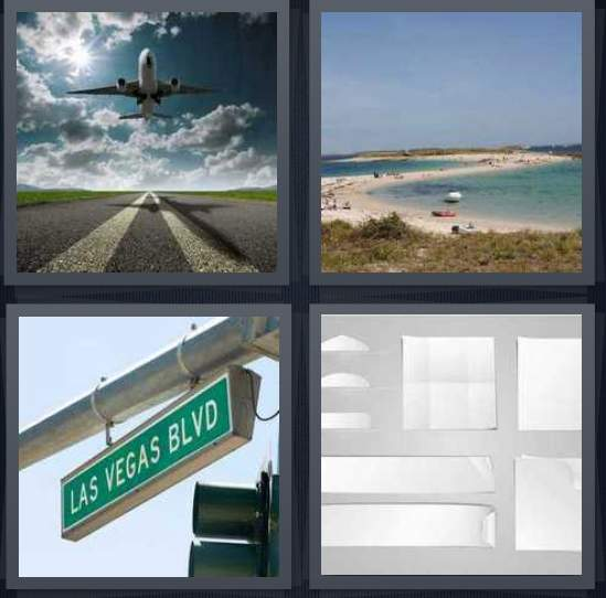 4-pics-1-word-airplane-taking-off-beach-woman-pulling-man-sign-white-paper-2