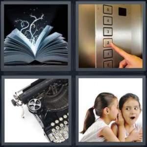 4-pics-1-word-elevator-button-book-kid-girls-whispering-telling-secret-typewriter-2