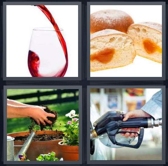 4-pics-1-word-gas-pump-bread-pouring-wine-cocktails-soil-pumping-petrol-nozzle-2